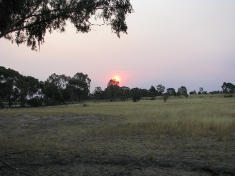 Sunset at Rushworth on Sun Feb 15 2009
