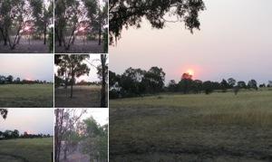 View Bushfire sunset Sun Feb 15 2009