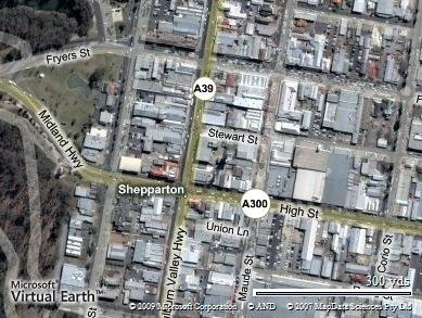 Shepparton CBD (western end)