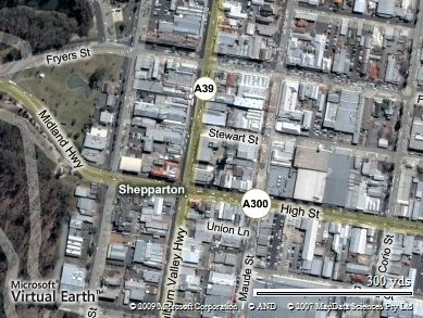 Shepparton And Mooroopna And Other Australian Citiestowns That - Live aerial maps