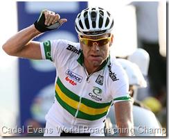Cadel Evans wins the World Championship for Australia