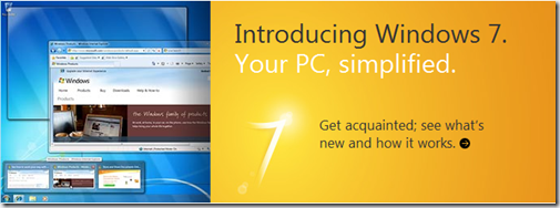 Windows 7 homepage