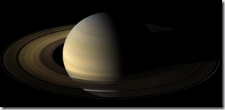 Saturn at equinox Aug 2009