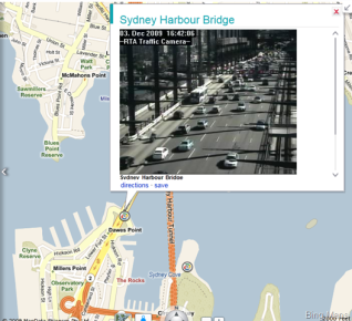 Sydney Harbour Bridge Traffic cam on Bing Maps