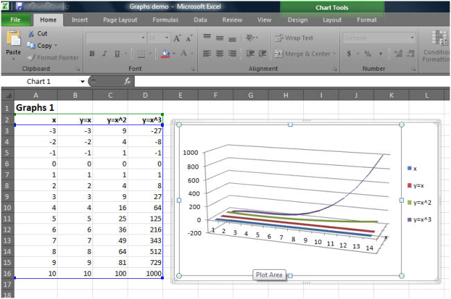 Graph can be edited in Excel desktop
