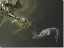 Oil slick visible off Louisiana
