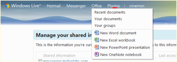 Edit Excel, OneNote, PowerPoint and Word docs using Office Web Apps from within Hotmail