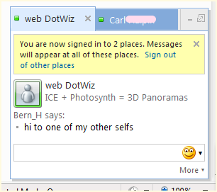 The Web Messenger features tabbed conversations
